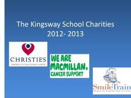 The Kingsway School Charities 2012