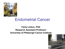 Endometrial Cancer - University of Pittsburgh