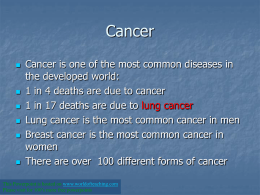 you can`t inherit cancer