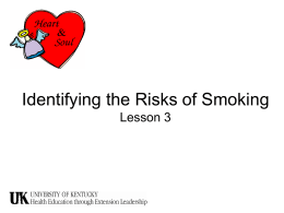 Identifying the Risks of Smoking Lesson 3