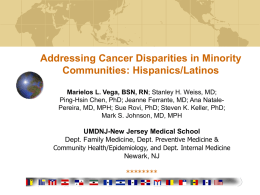 Addressing Cancer Disparities in Minority Communities