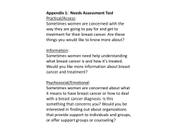 Appendix 1: Needs Assessment Tool Practical/Access