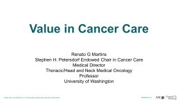 Value in Cancer Care