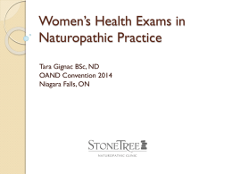 Tara Gignac, BSc., ND - Ontario Association of Naturopathic Doctors