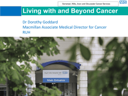Living with and beyond cancer – survivorship update