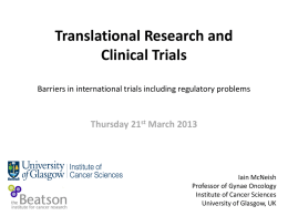 What is translational research?