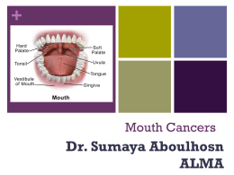 Mouth Cancers - Druze Victoria