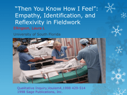 Then You Know How I Feel*: Empathy, Identification, and Reflexivity