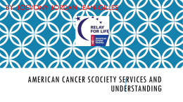 AMERCIAN CANCER SERVICES