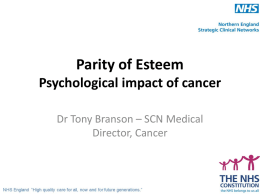 Psychological impact of cancer