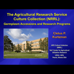 The Agriculture Research Service Culture Collection (NRRL)