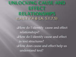 Unlocking Cause and Effect
