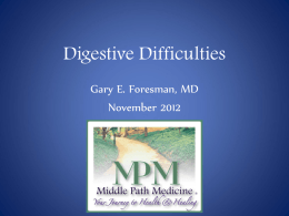 Digestive Difficulties: Got Tummy Trouble?