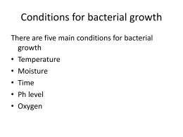 Conditions for bacterial growth pages 54-55