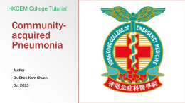 11.02 Community Acquired Pneumonia