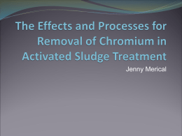 The Effects and Processes for Removal of Chromium in Activated