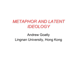 METAPHOR AND LATENT IDEOLOGY