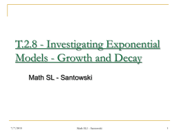 ELF.01.4 - Investigating Exponential Models