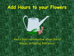 Add Hours to your Flowers