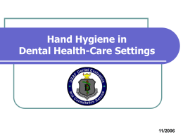 HAND HYGIENE IN HEALTH-CARE SETTINGS: AN OVERVIEW
