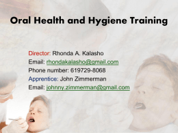 Oral Health and Hygiene Training