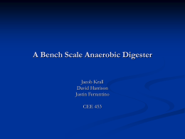 A Lab Bench Scale Anaerobic Digester