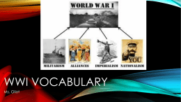 WWI Vocabulary