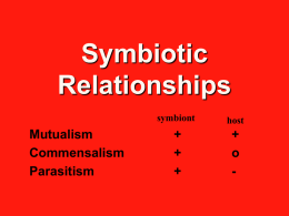 Symbiotic Relationships - Test Page for Apache Installation