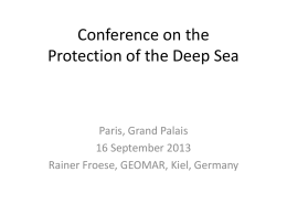 Conference on the Protection of the Deep Sea