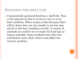 Extending the shelf Life