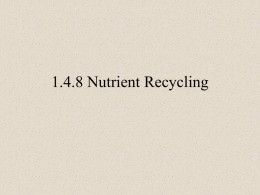 1.4.8 Nutrient Recycling