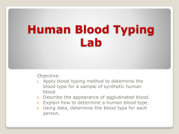 Human Blood Typing Lab