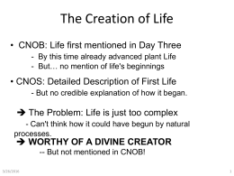 Powerpoint - CreationNarrative.org