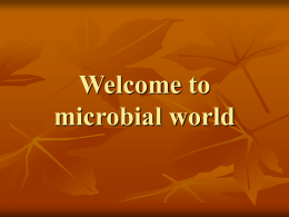 Introduction to microbial world