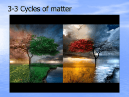 3-3 Cycles of matter - Sonoma Valley High School
