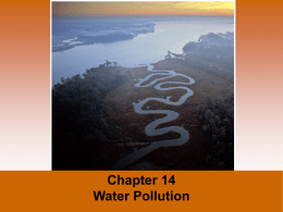 Chapter 14 - Water Pollution