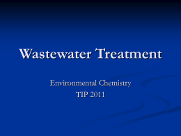Wastewater Treatment - WaterTreatment-TIP3-2011