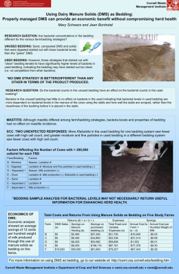 Using Dairy Manure Solids as Bedding