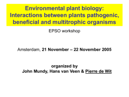 "White paper from the EPSO Workshop ""Environmental Plant Biology"""