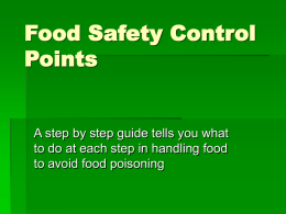 Food Safety Control Points