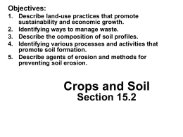 Crops and Soil Section 15.2