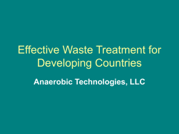 Effective Waste Treatment for Developing Countries