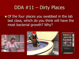 DDA #11 – Dirty Places - Effingham County Schools