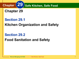 Chapter 29 Safe Kitchen, Safe Food