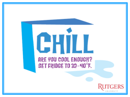 Chill: Are You Cool Enough?