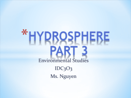 IDC3O3 Intro.Hydropshere part 3 - MCI