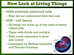 New Look at Living Things