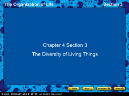 The Organization of Life Section 3