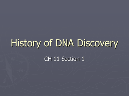 History of DNA Discovery