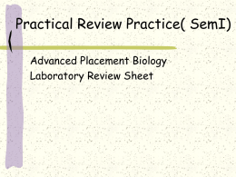 lab practical review
